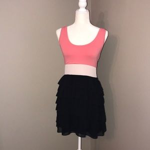Pink, white & black dress from Express
